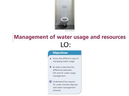 LO:. Why do we need to conserve water? List at least 5 reasons…..