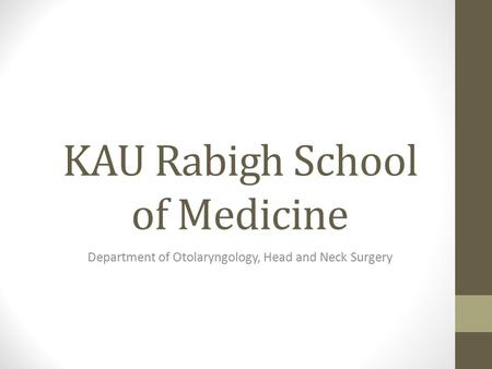KAU Rabigh School of Medicine
