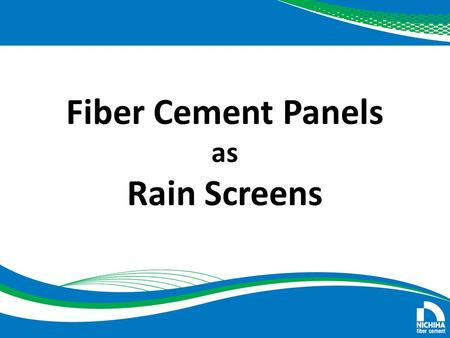 Fiber Cement Panels as Rain Screens