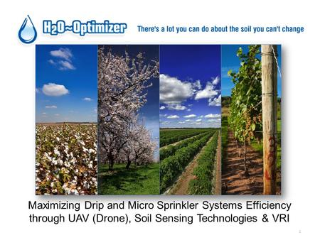 1 Maximizing Drip and Micro Sprinkler Systems Efficiency through UAV (Drone), Soil Sensing Technologies & VRI.