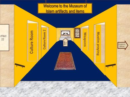 Museum Entrance Culture Room Culture Room 2 Muslim praying Weapons Welcome to the Museum of Islam artifacts and items Islam artifacts and items Curator's.