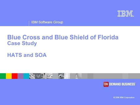 ® IBM Software Group © 2006 IBM Corporation Blue Cross and Blue Shield of Florida Case Study HATS and SOA.