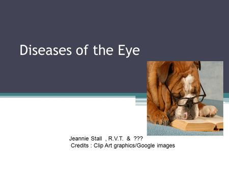 Diseases of the Eye Casey Conway Jeannie Stall , R.V.T. & ???