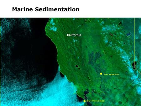 Marine Sedimentation. Streams Rivers Glaciers Landslide (Gravity)