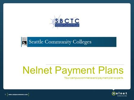 1 Nelnet Payment Plans Your campus commerce and payment plan experts.