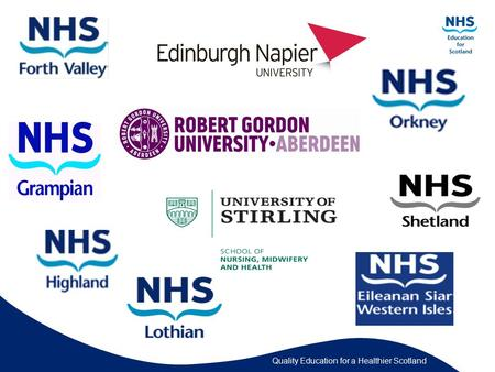 Quality Education for a Healthier Scotland. Contact Details Margaret Conlon Lecturer and Teaching Fellow Edinburgh Napier University