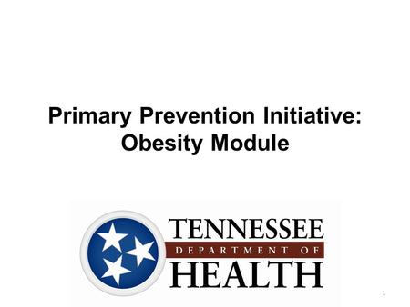 Primary Prevention Initiative: Obesity Module