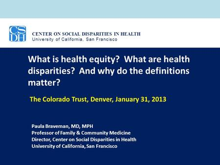 What is health equity. What are health disparities