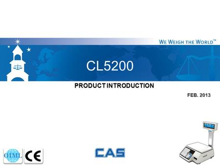 CL5200 PRODUCT INTRODUCTION FEB. 2013.