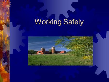 Working Safely. Causes of eye injuries  Rock, soil or dust particles  Objects thrown from equipment  Spray cans  Pesticides  Tools.