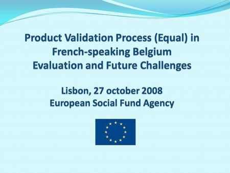 Evaluation of the Process Some Figures - Participation of 32 out 35 DPs; - 27 flagship products presented (in 3 sessions) - 5 concerning enhanced.