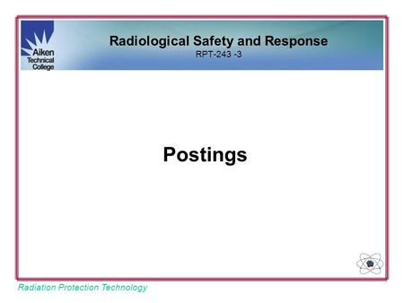 Radiological Safety and Response