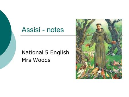 National 5 English Mrs Woods