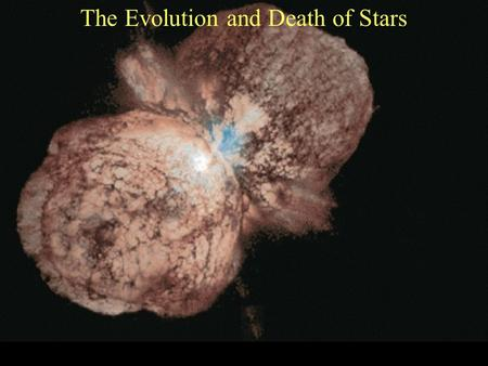 The Evolution and Death of Stars. Stars Leave the Main Sequence The hydrogen atoms in the core of the star that fuse together to create helium, start.