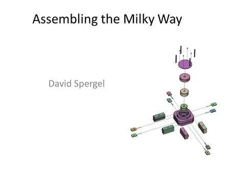 Assembling the Milky Way David Spergel. What has changed? Context: – Standard cosmological model – No galaxy is an island… (John Dunne vs. Immanuel Kant)
