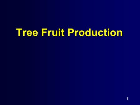 1 Tree Fruit Production. 2 TRAINING To cause to grow in a desired form or fashion.