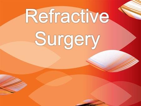 REFRACTIVE ERROR AND SURGERIES IN THE UNITED STATES