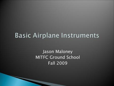 Basic Airplane Instruments