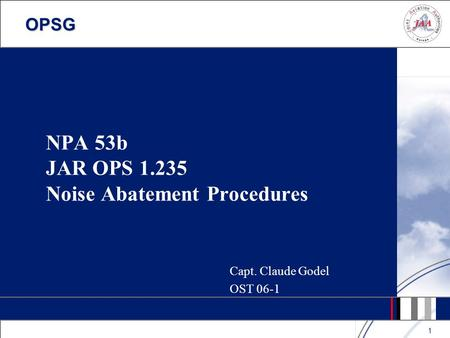NPA 53b JAR OPS Noise Abatement Procedures