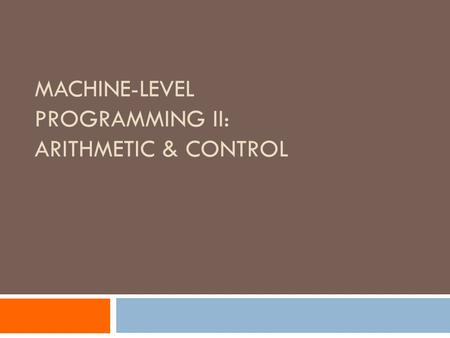 arithmatic machine