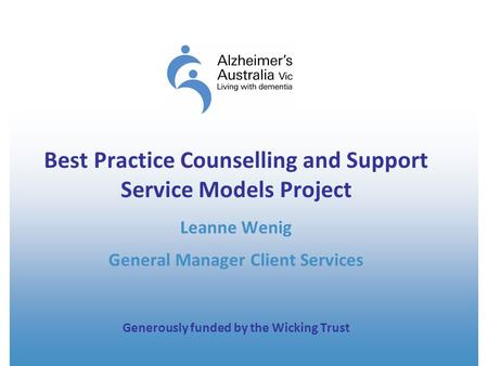 Best Practice Counselling and Support Service Models Project