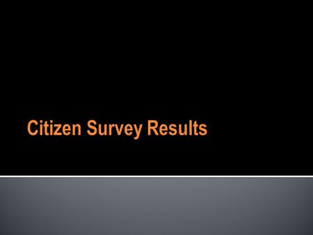 Citizen Survey Results. Mecklenburg County Citizen Survey  Questions on full range of usage, customer satisfaction, needs, unmet needs, and priorities.