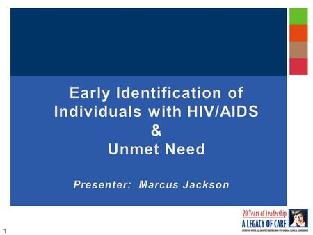 "1. 2 Early Identification of Individuals with HIV/AIDS (EIIHA) Legislative References: Ryan White Part B Legislation:Ryan White Part B Legislation: ""develop."