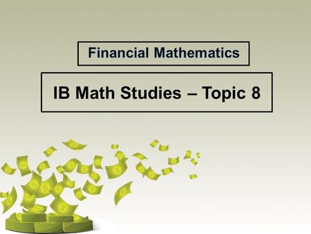 ib math study guide A good project for internal assessment can be the backbone of a good grade and good experience on the maths studies course obviously at 20% of the course grade, its importance speaks for itself, but the real value is doubled if students can find a topic that really interests them and use it as an .