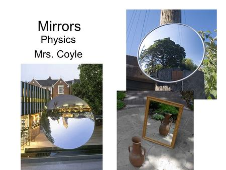Mirrors Physics Mrs. Coyle.