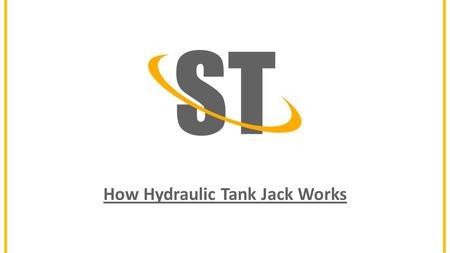 How Hydraulic Tank Jack Works. 12MT Hydraulic Tank Jacks Tank Foundation 2.