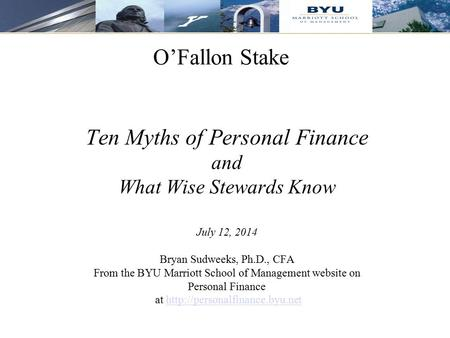 Ten Myths of Personal Finance