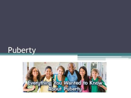 Puberty. Puberty is… the period of sexual development during which a person becomes sexually mature and is physically able to reproduce your body will.