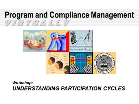 1 Program and Compliance Management Workshop: UNDERSTANDING PARTICIPATION CYCLES V I R T U A L L Y.