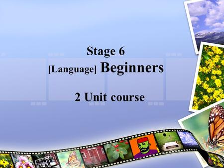 Stage 6 [Language] Beginners 2 Unit course. Who can do this course? Anyone who hasn't done [Language] previously OR who hasn't done it for more than about.