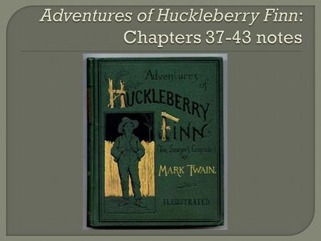 an assessment of the moral level of huck finn in the adventures of huckleberry finn by mark twain Racism and huckleberry finn by allen webb introduction to adventures of huckleberry finn (london: ³but what mark twain, huck.