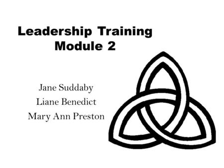 Leadership Training Module 2