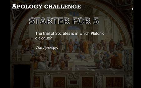 socrates holiness and justice We start with plato's euthyphro, a short dialogue in which socrates debates the nature of holiness with a priest, euthyphro (the bad dad is euthyphro's.