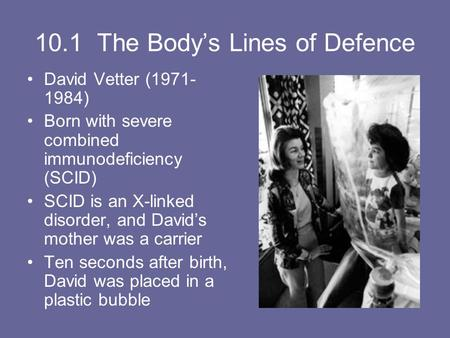10.1 The Body's Lines of Defence