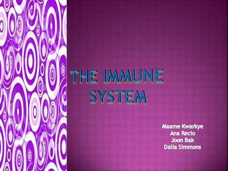  The immune system helps to attack viruses and diseases that may cause harm to the body  It consist of a series of organs that helps with the process.