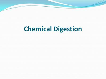 Chemical Digestion. Introduction Food cannot be broken down into small enough nutrients by physical digestion alone. Special enzymes in our body help.