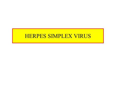 HERPES SIMPLEX VIRUS. Characteristics of HSV DNA double stranded virus, linear 125-250 Kb long, relatively big Enveloped Virion size 200 nm, relatively.