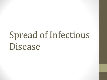 Spread of Infectious Disease