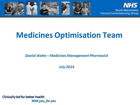Medicines Optimisation Team