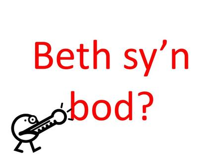 Beth sy'n bod?. What is wrong with you? (chi)