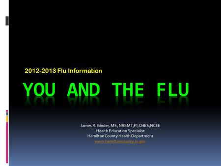 You and the Flu Flu Information