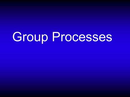 Group Processes. What is a group? Which of these are meaningful groups? Members of your fraternity/sorority Your family Members of the St. Louis Cardinals.