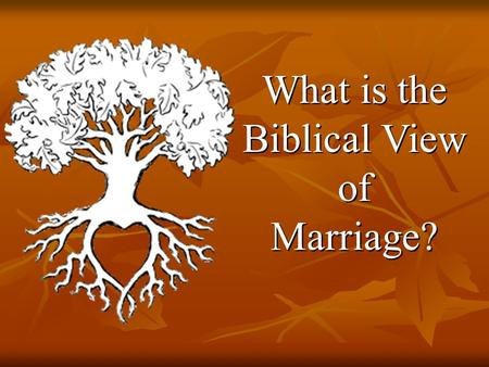 What is the Biblical View of Marriage? What is the Biblical View of Marriage?