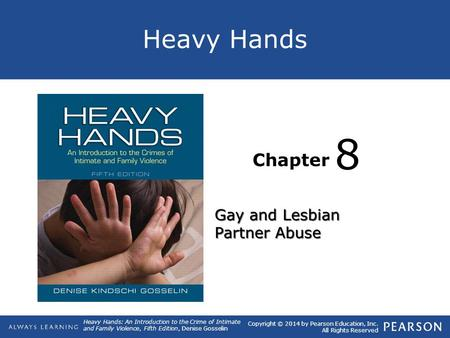 8 Gay and Lesbian Partner Abuse.