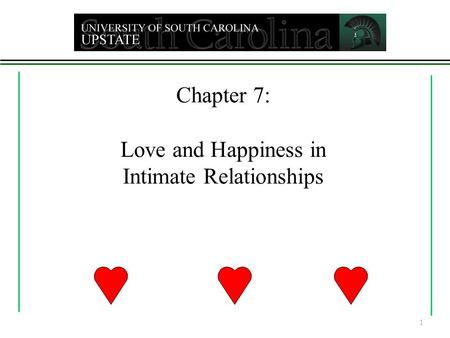 Chapter 7: Love and Happiness in Intimate Relationships