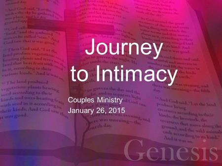 Couples Ministry January 26, 2015